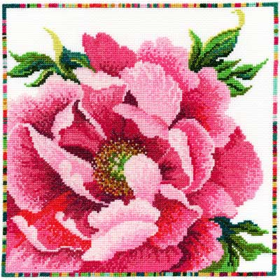 ВЫШИВКА Bothy Threads Garden Flowers Peony  Пион