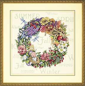 ВЫШИВКА Wreath of all Seasons
